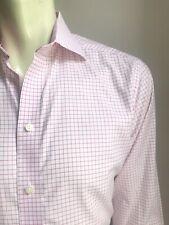 ETON Shirt, Pink Windowpane Plaid, L (16-1/2, 35), Contemporary Fit, Exc Cond