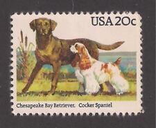 Dogs - Chesapeake Bay Retriever & Cocker Spaniel On A U.S. Postage Stamp