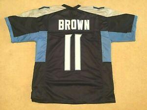 UNSIGNED CUSTOM Sewn Stitched A.J. Brown Blue Jersey - M, L, XL, 2XL