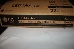 LG 22MC37D-B 22 inch Widescreen LED Monitor ~~ NEW IN BOX!