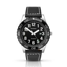 Sekonda 1119 Caballeros Fecha Analógico de Cuarzo Reloj Negro Y Blanco 50m RRP £ 59.99
