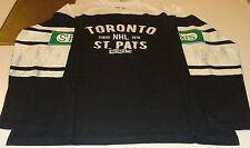 Toronto St Pats CCM Long Sleeves Applique Crew Sweatshirt Shirt T Maple Leafs M