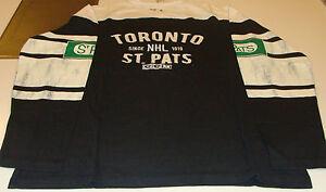 Toronto St Pats CCM Long Sleeves Applique Crew Sweatshirt Shirt T Maple Leafs S