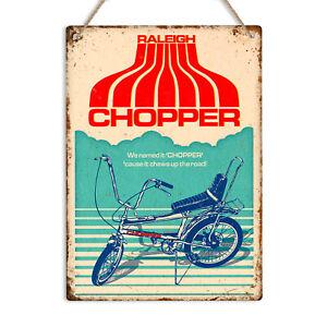 RALEIGH CHOPPER Vintage Retro Metal Tin Wall Sign Plaque Bike Garage Man Cave