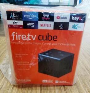 NEW SEALED AMAZON FIRE TV CUBE W/ ALEXA UHD 4K 2021 HDR MEDIA STREAMER - BLACK