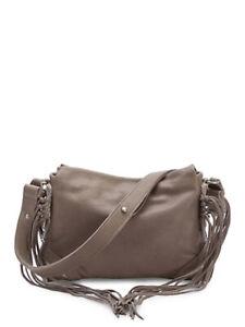 $280 NEW Liebeskind Berlin Sapporo F7 Leather Fringe Tassel Crossbody Bag Brown
