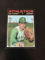 """1971 TOPPS #45 JIM """"CATFISH"""" HUNTER HOF OAK A's— PACK FRESH💥*** (wph)"""