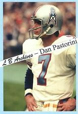 DAN PASTORINI Oilers ROOKIE Photo Titans Raiders Rams