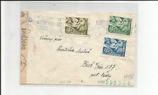 Europa Union / Eur. Postkongress Slowakei-Satz 102-04 auf Pracht-Bed.-Zensur-Bri