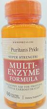 Puritan's Pride Super Strength Multi-Enzyme Formula 60 Coated Caplets