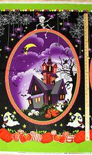 "Frightful & Delightful Halloween Fabric  23"" Panel    #9896PG  GLOWS in the DARK"