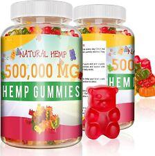 Hemp Gummies for Pain & Anxiety 500,000mg Hemp Oil Gummy Vitamin Stress Natural