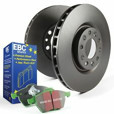 EBC Rear Brake Discs and Greenstuff Pads Kit For Ford Fiesta Mk7 1.6 ST180