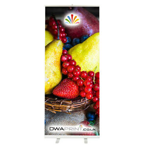 Roller Banner 200x85cm Stand - Complete with Printing & Padded Carry Bag NEW