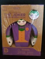 DC Comics The Joker Painted Wooden Figure Loot Crate Exclusive Batman NEW/SEALED