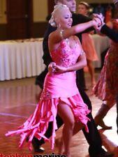 Ladies Hot Pink Latin Rhythm Ballroom Competition Costume US 4-8