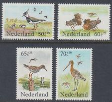 Niederlande 1984 ** Mi.1246/49 A Vögel Birds Tiere Animals Meadow [st3066]
