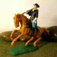 Original Hausser Elastolin 5,6cm Steckfigur beweglich Regierungs-Soldat zu Pferd