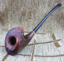 Exclusive Tobacco smoking pipe wooden hand made Slim design long stem new