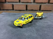 Majorette Volvo XC90 Patrouille SOS Car Model Yellow with motorcycle Diecast