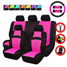 UNIVERSAL CAR SEAT COVERS STEERING WHEEL COVER ROSE RED FOR WOMAN FOR CAR SUV