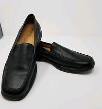f9be1c486adb7 GEOX Respira Mens Shoes Sz 12.5 US 46 EU Black Leather Driving Loafers Slip  On