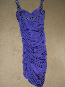 J.S. Boutique Purple Polyester Blend Strappy Short Length Dress  Size 14