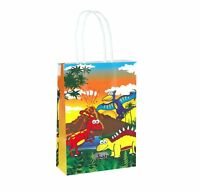 6 Dinosaur Bags With Handles - Luxury Party Treat Sweet Loot Lunch Gift