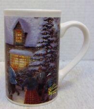 1993 Thomas Kinkade Skater's Pond Coffee Mug Cup