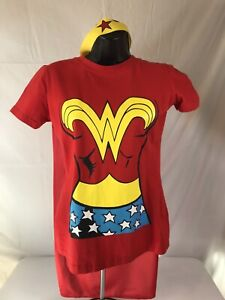 Rubie's  Wonder Woman T-Shirt Costume - Medium Cap and Crown