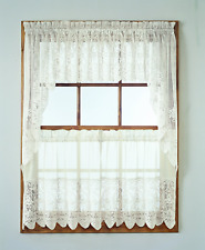 "No. 918 Joy Classic Lace Kitchen Curtain Tier Pair, 60"" x 24"", Ivory 28738"