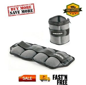 (Pack 2 - save money) 10lb Pair Adjustable Ankle Weights Hook & Loop Closure