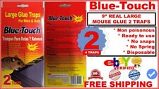 """4 Large 9"""" Mouse Traps glue mice rat insect rodent pest control (Peanut Scent) 4"""