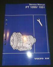 VOLVO PT1050 PT1051 TRANSMISSION SERVICE SHOP REPAIR MANUAL BOOK