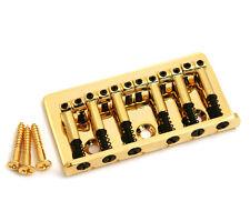 Gold Universal Top Load Hardtail Guitar Bridge SB-0190-002
