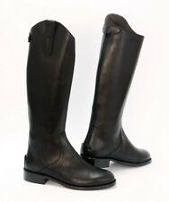 stivali alti stile equitazione zip post. vera pelle anche fodera riding boots