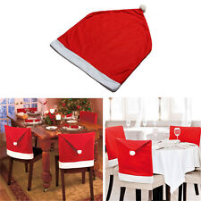 Santa Red Hat Chair Covers Christmas Dinner Xmas Cap Party Table Decor Sets Gift