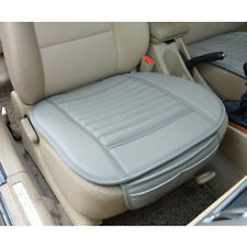 US Gray Car PU Leather Bamboo Charcoal Seat Cover Pad Chair Cushion Breathable