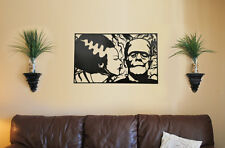 Bride & Frankenstein Metal Wall Art Home Decor