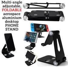 Universal DOUBLE Adjustable Foldable Portable Phone Holder Swivel STAND Desktop
