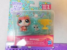 Littlest Pet Shop Series 2 #102 Trip Hamston Hamster 103 Molly Mouse Mouseby MOC