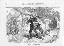 "1870 Fine Art ""a prisoner of war"" by W Simpson BULL CATTLE Soldiers (252 a)"