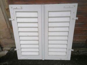 1 Paar Fensterladen - Holz - gebraucht - Höhe 106 cm, Breite 53 cm