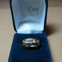 Bague or blanc et diamants taille ancienne / old-cut diamonds ring