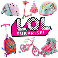 LOL Surprise Inline Skates, Scooter, Helmet, Bike and more! + LOL STICKERS