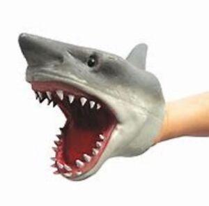 STRETCHY SHARK HAND PUPPET - SC-SHP SOFT GLOVE FISH HEAD SWIM BABY WATER HORROR