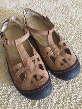 Jambu Adventure Designs Dune Tan Womens Sport Sandals Mary Jane Leather  Size 8