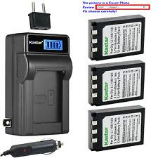Kastar Battery LCD AC Charger for Olympus Genuine Li-10B Li-12B OEM Li-10C 10CN