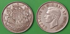 1943 Canada 80% Silver Half Dollar Graded as Extra Fine
