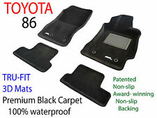 To suit Toyota 86 2012 - 2018 Black Carpet Car Floor Mats - Manual Transmisson